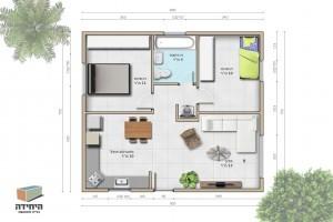תוכנית אדריכלית לבמה בבניה קלה