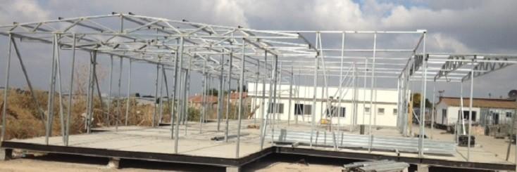 שלד מבנה בבניה קלה