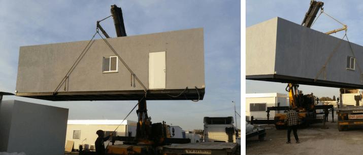 הובלת מבנה משרדים נייד