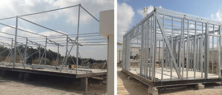 תהליך יצור בניה קלה למגורים
