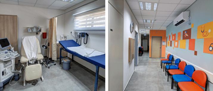 חדר המתנה טיפול בקופת חולים מאוחדת